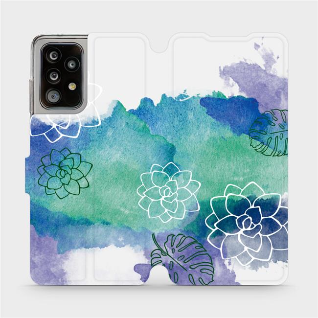 Flipové pouzdro Mobiwear na mobil Samsung Galaxy A52 / A52 5G / A52s 5G - MG11S Vodovkové květy