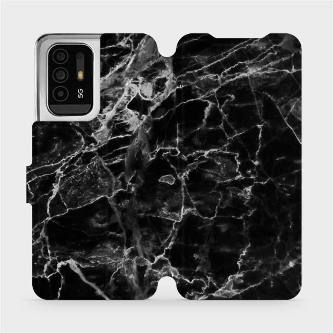 Flip pouzdro Mobiwear na mobil OPPO Reno5 Z 5G - V056P Černý mramor