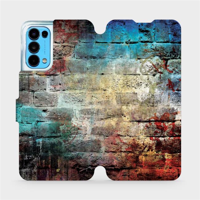 Flip pouzdro Mobiwear na mobil OPPO Reno5 5G - V061P Zeď