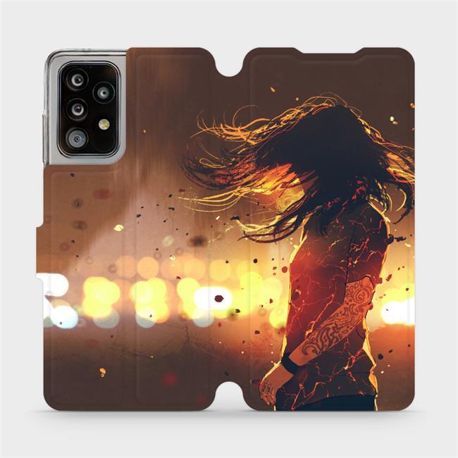 Flipové pouzdro Mobiwear na mobil Samsung Galaxy A52 / A52 5G / A52s 5G - MA02S Tetovaná dívka