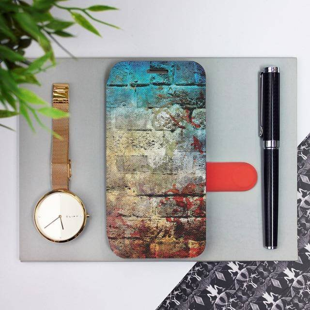 Flipové pouzdro Mobiwear na mobil Samsung Galaxy A72 - V061P Zeď