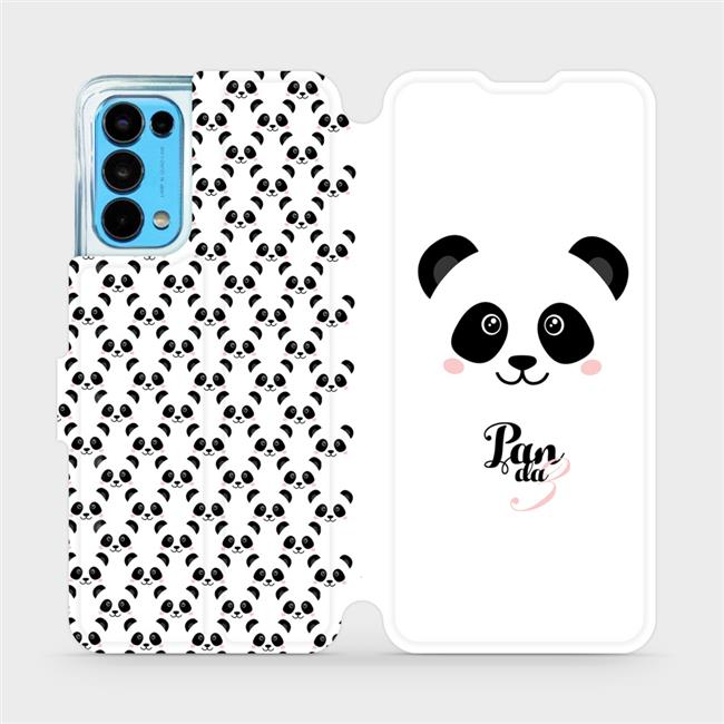 Flip pouzdro Mobiwear na mobil OPPO Reno5 5G - M030P Panda Amálka