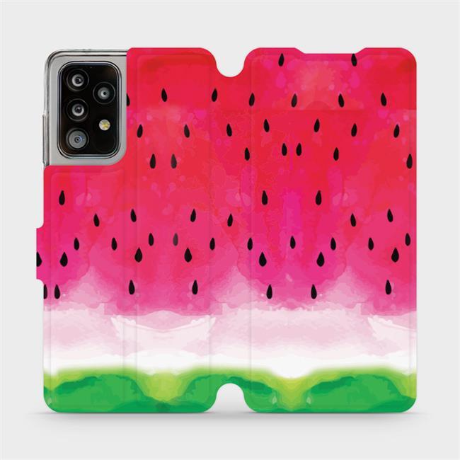 Flipové pouzdro Mobiwear na mobil Samsung Galaxy A52 / A52 5G / A52s 5G - V086S Melounek