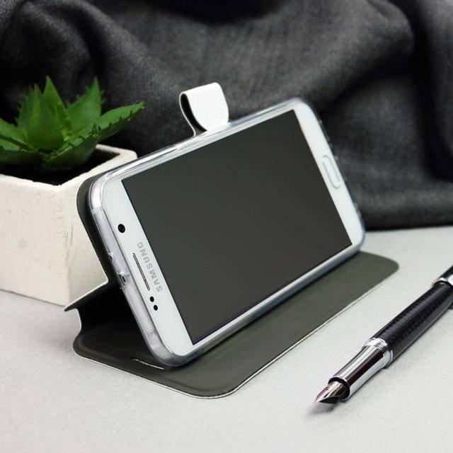Flipové pouzdro Mobiwear na mobil Samsung Galaxy A72 v provedení C_GOS Gold&Gray s šedým vnitřkem