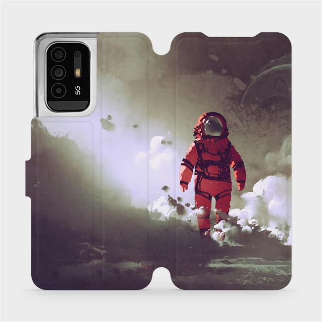 Flip pouzdro Mobiwear na mobil OPPO Reno5 Z 5G - MA07S Týpek ve skafandru