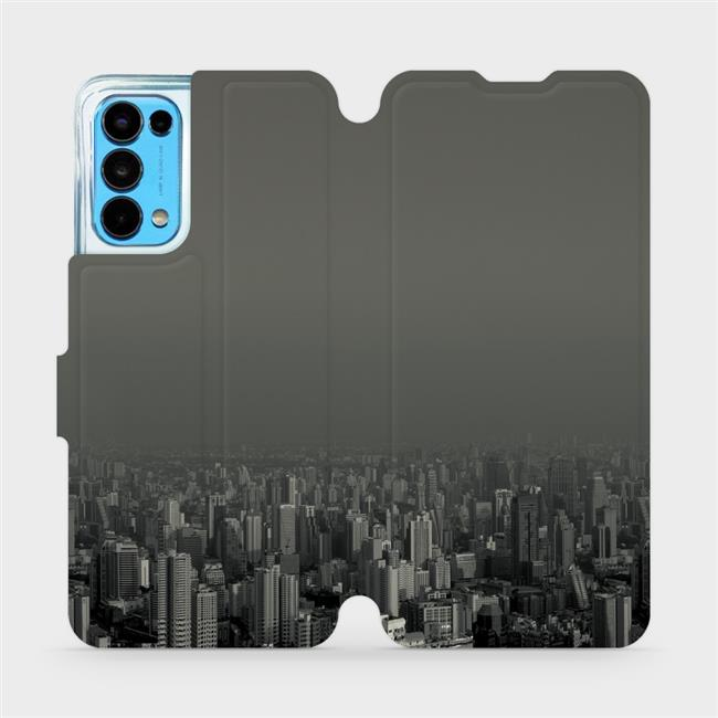 Flip pouzdro Mobiwear na mobil OPPO Reno5 5G - V063P Město v šedém hávu