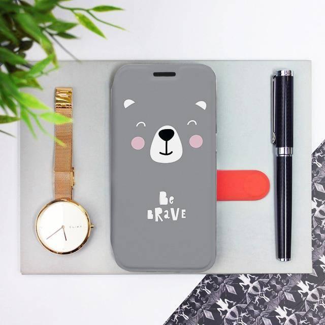 Flipové pouzdro Mobiwear na mobil Samsung Galaxy A52 / A52 5G / A52s 5G - MH06P Be brave - more hugs