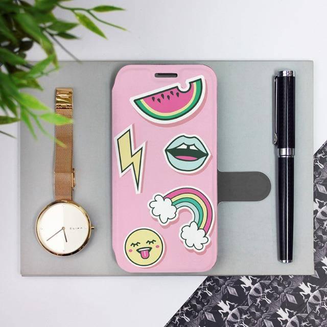Flipové pouzdro Mobiwear na mobil Samsung Galaxy A52 / A52 5G / A52s 5G - M129S Růžové WHAT