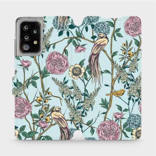 Flipové pouzdro Mobiwear na mobil Samsung Galaxy A52 / A52 5G / A52s 5G - MX07S Ptáčci v trní