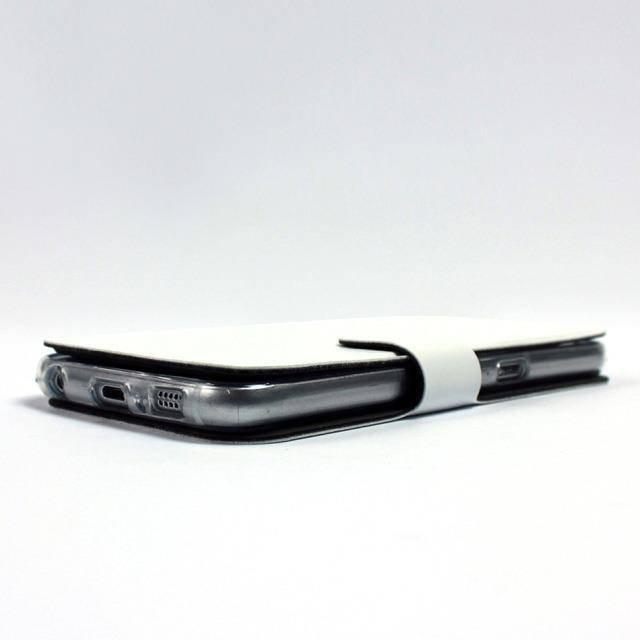 Parádní flip pouzdro Mobiwear na mobil Samsung Galaxy A12 v provedení C_BLS Black&Gray s šedým vnitřkem - poslední kousky za tuto cenu