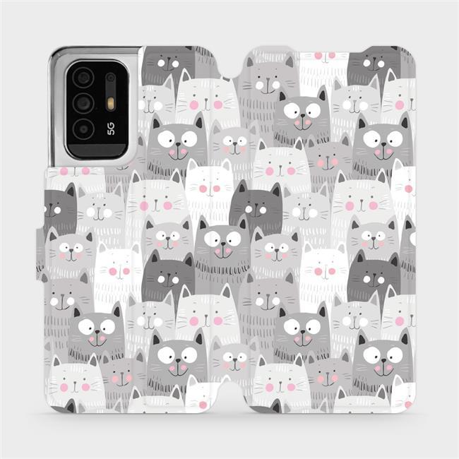Flip pouzdro Mobiwear na mobil OPPO Reno5 Z 5G - M099P Kočičky