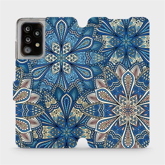 Flipové pouzdro Mobiwear na mobil Samsung Galaxy A52 / A52 5G / A52s 5G - V108P Modré mandala květy