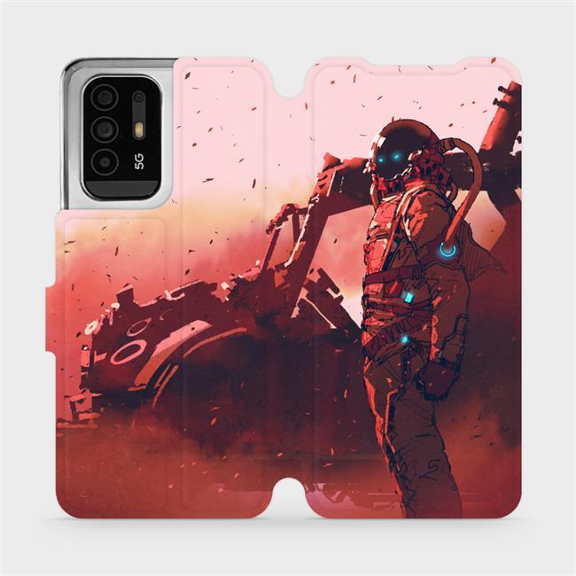 Flip pouzdro Mobiwear na mobil OPPO Reno5 Z 5G - MA09S Průzkumník s červeným vozítkem