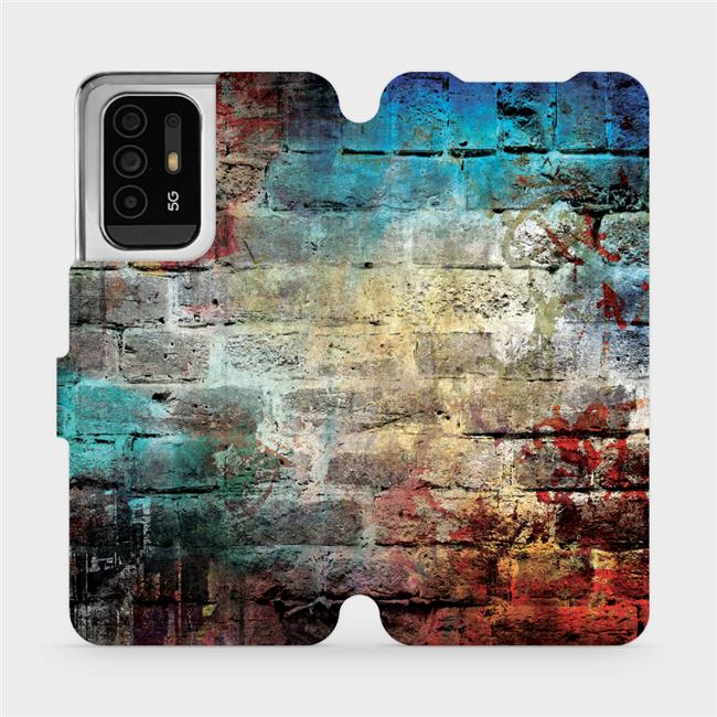 Flip pouzdro Mobiwear na mobil OPPO Reno5 Z 5G - V061P Zeď