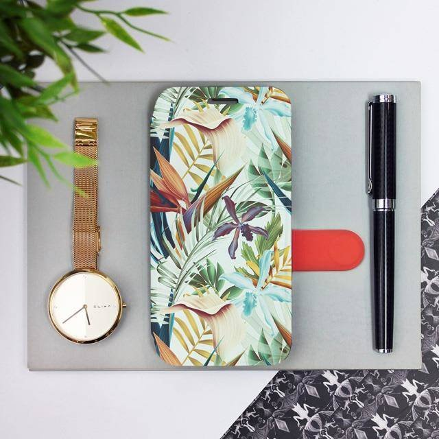 Flipové pouzdro Mobiwear na mobil Samsung Galaxy A52 / A52 5G / A52s 5G - M071P Flóra