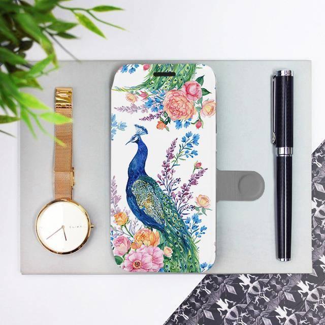 Flipové pouzdro Mobiwear na mobil Samsung Galaxy A52 / A52 5G / A52s 5G - MX08S Pávi