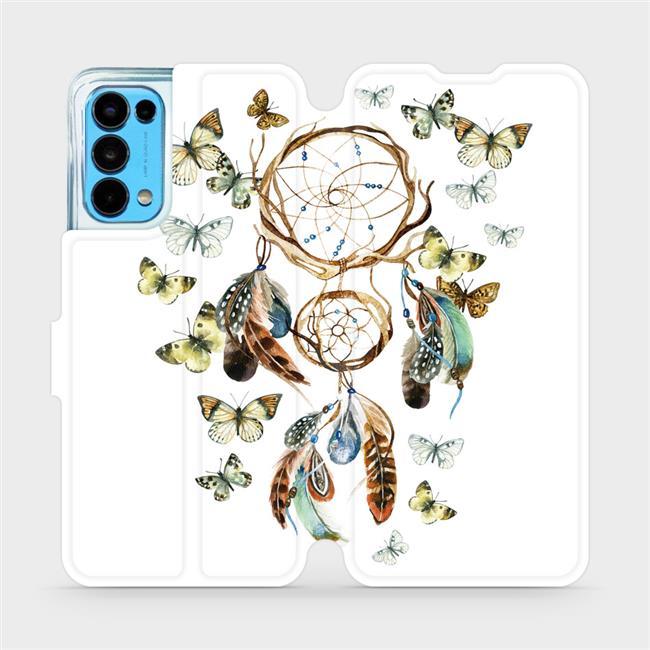 Flip pouzdro Mobiwear na mobil OPPO Reno5 5G - M001P Lapač a motýlci