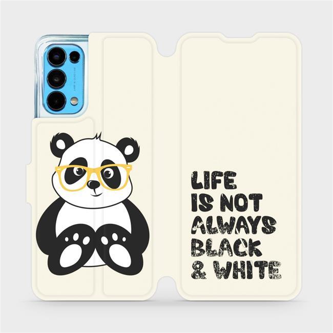 Flip pouzdro Mobiwear na mobil OPPO Reno5 5G - M041S Panda - life is not always black and white