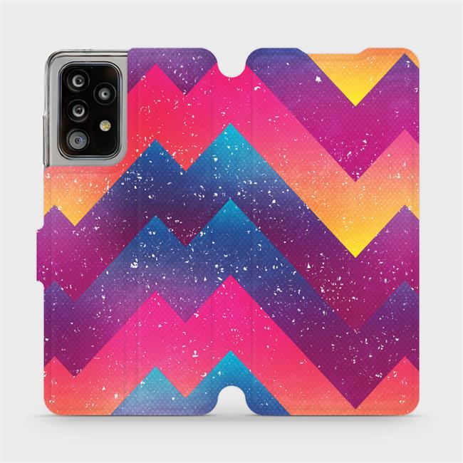Flipové pouzdro Mobiwear na mobil Samsung Galaxy A52 / A52 5G / A52s 5G - V110S Barevné klikyháky
