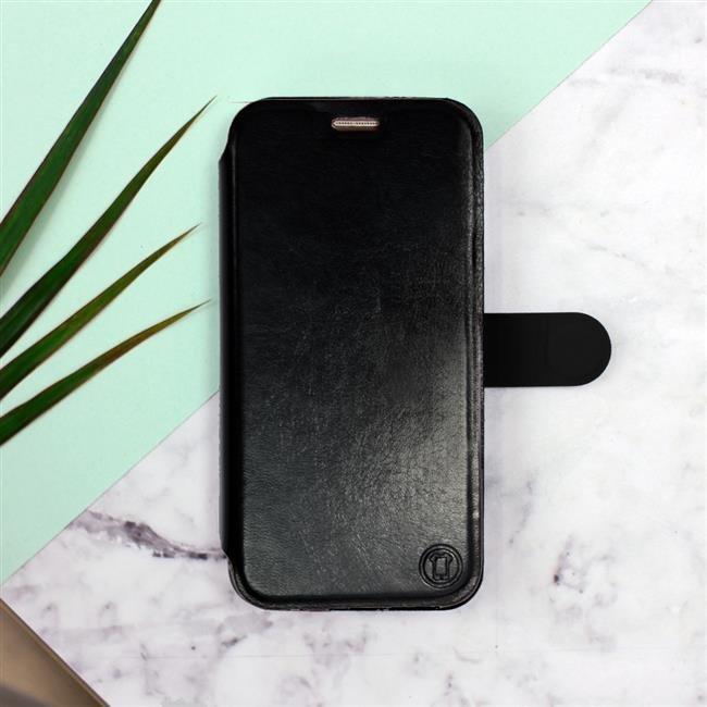 Flipové pouzdro Mobiwear na mobil Samsung Galaxy A52 / A52 5G / A52s 5G v provedení C_BLS Black&Gray s šedým vnitřkem