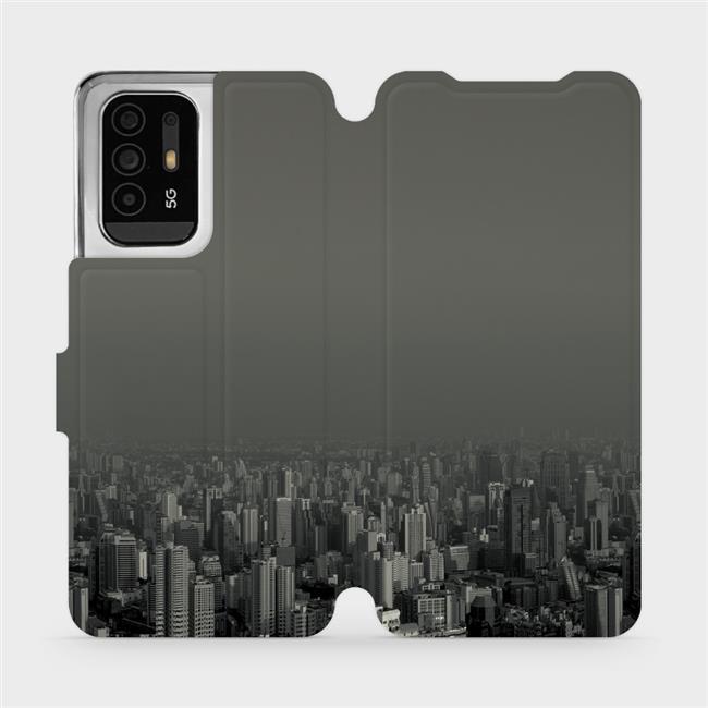 Flip pouzdro Mobiwear na mobil OPPO Reno5 Z 5G - V063P Město v šedém hávu