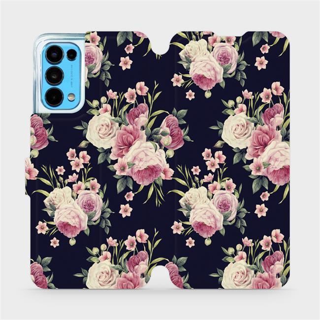 Flip pouzdro Mobiwear na mobil OPPO Reno5 5G - V068P Růžičky