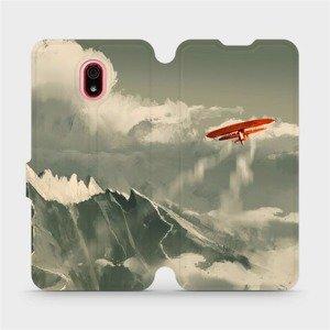 Flipové pouzdro Mobiwear na mobil Xiaomi Redmi 8a - MA03P Oranžové letadlo v horách