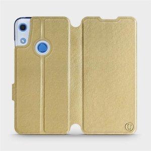 Flipové pouzdro Mobiwear na mobil Huawei Y6S v provedení C_GOS Gold&Gray s šedým vnitřkem