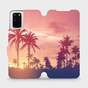Flipové pouzdro Mobiwear na mobil Samsung Galaxy S20 Plus - M134P Palmy a růžová obloha
