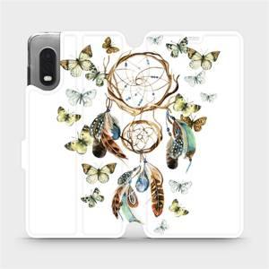 Flipové pouzdro Mobiwear na mobil Samsung Xcover PRO - M001P Lapač a motýlci