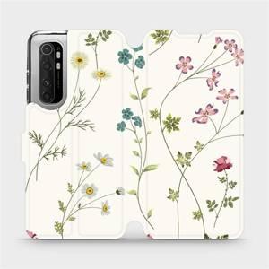 Flipové pouzdro Mobiwear na mobil Xiaomi Mi Note 10 Lite - MD03S Tenké rostlinky s květy
