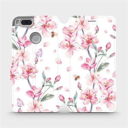 Flipové pouzdro Mobiwear na mobil Xiaomi Mi A1 - M124S Růžové květy