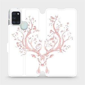 Flipové pouzdro Mobiwear na mobil Samsung Galaxy A21S - M007S Růžový jelínek