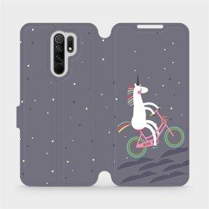 Flipové pouzdro Mobiwear na mobil Xiaomi Redmi 9 - V024P Jednorožec na kole