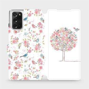 Flipové pouzdro Mobiwear na mobil Samsung Galaxy Note 20 - M120S Strom a ptáčci