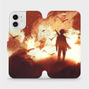 Flipové pouzdro Mobiwear na mobil Apple iPhone 12 - MA06S Postava v ohni