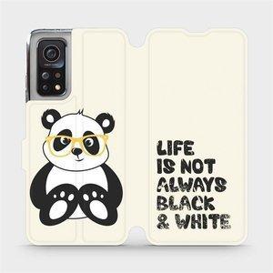 Flipové pouzdro Mobiwear na mobil Xiaomi MI 10T Pro - M041S Panda - life is not always black and white