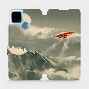 Flip pouzdro Mobiwear na mobil Realme 7i - MA03P Oranžové letadlo v horách