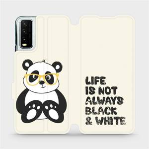 Flipové pouzdro Mobiwear na mobil Vivo Y20S - M041S Panda - life is not always black and white