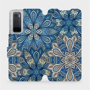 Flipové pouzdro Mobiwear na mobil Vivo Y70 - V108P Modré mandala květy