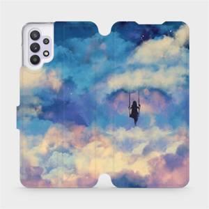Flipové pouzdro Mobiwear na mobil Samsung Galaxy A32 5G - MR09S Dívka na houpačce v oblacích - výprodej