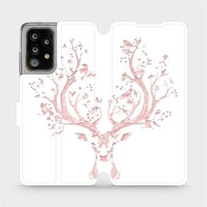 Flipové pouzdro Mobiwear na mobil Samsung Galaxy A52 / A52 5G / A52s 5G - M007S Růžový jelínek