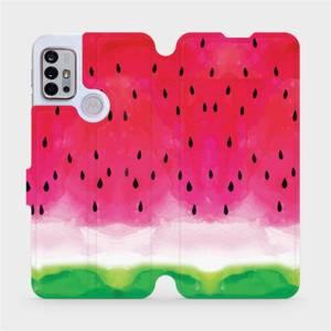 Flipové pouzdro Mobiwear na mobil Motorola Moto G10 - V086S Melounek