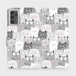 Flip pouzdro Mobiwear na mobil Samsung Galaxy A32 LTE - M099P Kočičky