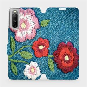 Flip pouzdro Mobiwear na mobil Sony Xperia 10 III - MD05P Džínové květy