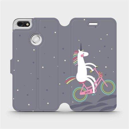 Flipové pouzdro Mobiwear na mobil Huawei P9 Lite mini - V024P Jednorožec na kole