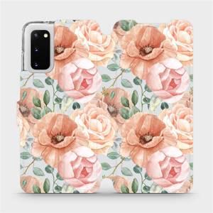 Flip pouzdro Mobiwear na mobil Samsung Galaxy S20 - MP02S Pastelové květy