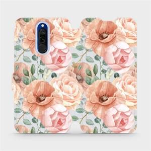 Flip pouzdro Mobiwear na mobil Xiaomi Redmi 8 - MP02S Pastelové květy