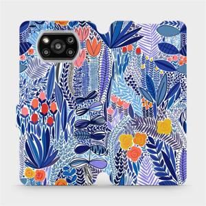Flip pouzdro Mobiwear na mobil Xiaomi POCO X3 NFC - MP03P Modrá květena