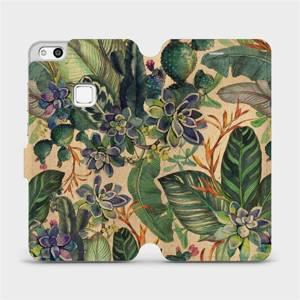 Flip pouzdro Mobiwear na mobil Huawei P10 Lite - VP05S Sukulenty